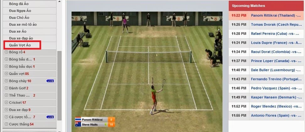Tennis Tennis & How to play Tennis betting online at 12bet