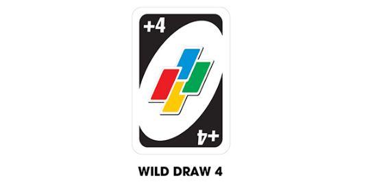 lá bài wild draw 4 cards trong game uno