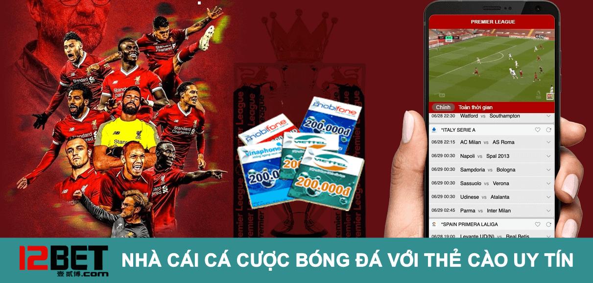 cá cược bóng đá bằng thẻ điện thoại