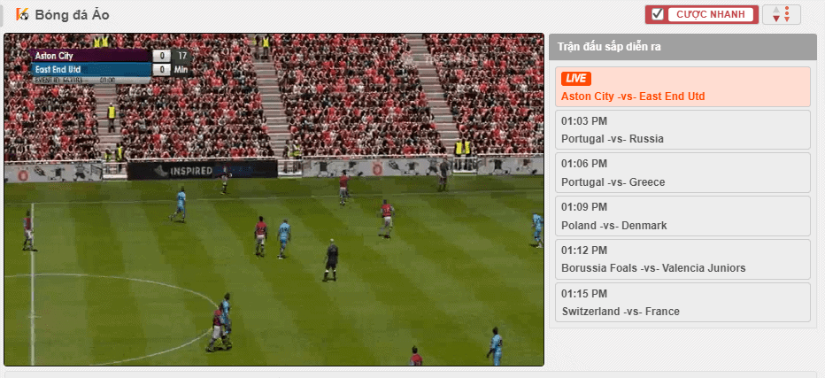 how to play virtual soccer at 12bet