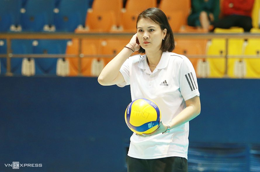 'Volleyball beauty' Kim Hue did not return to the Vinh Phuc club