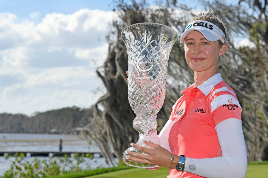 Nelly Korda's tearful title