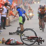 Le Nguyet Minh caused an accident at the six-legged bicycle tournaments across Vietnam
