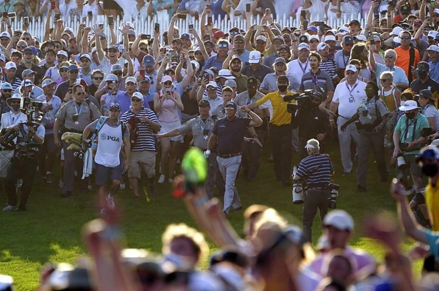 Koepka annoyed the audience poured into the field to celebrate Mickelson