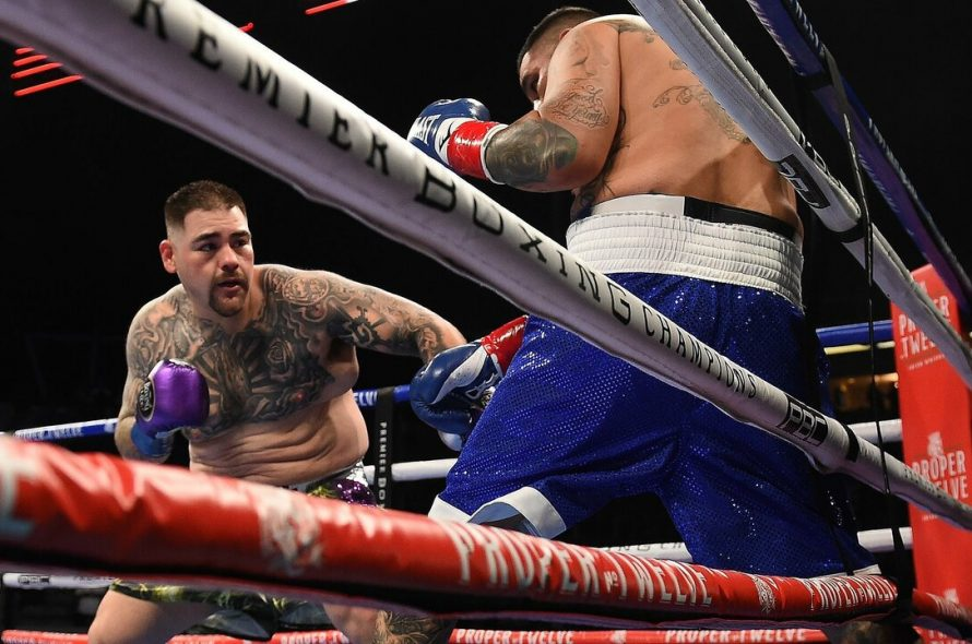 The former heavyweight champion won points after being knocked down