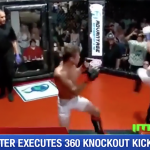 Rotate 360 degrees to kick your opponents knock-out