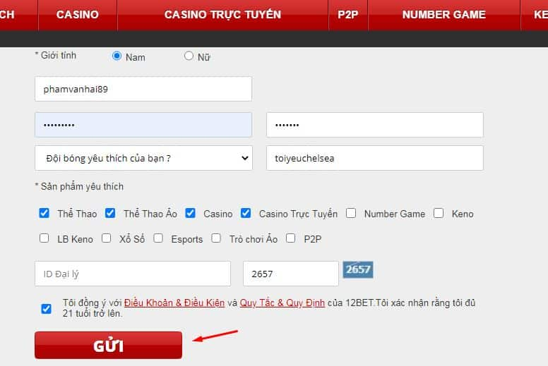 How to register for a 12bet football betting account?