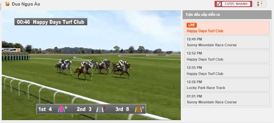 how to play horse racing for coins at 12bet