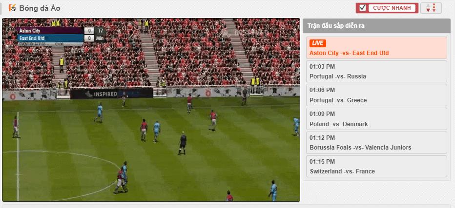 how to play virtual football at 12bet