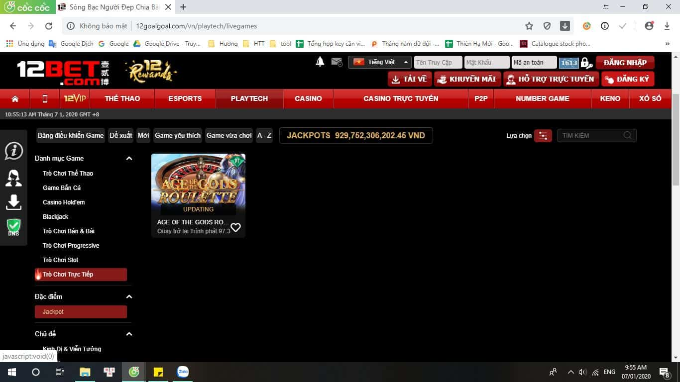 What is Jackpot?  Instructions to play Jackpot to earn billions at 12bet