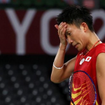 Kento Momota was eliminated in the Olympic group stage