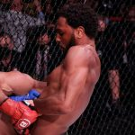 MMA fighter wants to stop the fight because the opponent is about to pass out